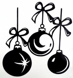 Details about Christmas Ornaments Holiday Car Truck Window Vinyl Decal Sticker 10 Colors Christmas Vinyl, Noel Christmas, Christmas Balls, Christmas Crafts, Christmas Ornaments, Christmas Decorations, Christmas Colors, Cajas Silhouette Cameo, Silhouette Cameo Projects