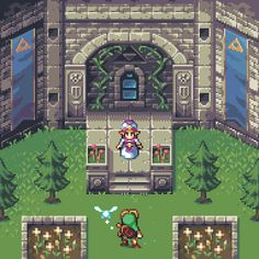 The Legend of Zelda: Ocarina of Time by AlbertoV on DeviantArt Legend of Zelda Ocarina of Time pixel art > young Link meeting young Princess. The Legend Of Zelda, Legend Of Zelda Memes, Soundtrack, Princesa Zelda, Videogames, Ocarina Of Times, Flipper, 8bit Art, Pixel Art Games