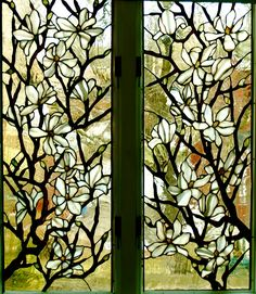 beautiful stained glass windows dogwood
