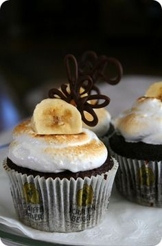 banana and Nutella cupcakes
