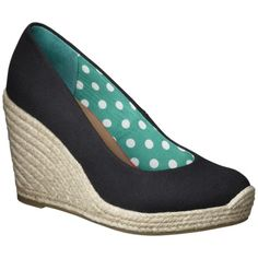 Women's Merona® Marguerite Closed Wedge Canvas Espadrille.  Just bought these in every color!