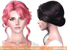 Newsea's J116 Sweet Slumber hairstyle retexture by Sims Hairs for Sims 3 - Sims Hairs - http://simshairs.com/downloads-sims3-sims4/newseas-j116-sweet-slumber-hairstyle-retexture-by-sims-hairs/