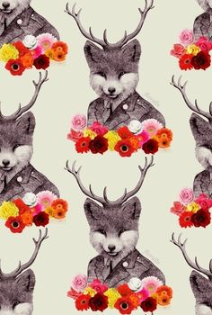 replace the antlers with flowers an the bottom bits with wheat
