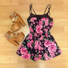 Zeliha's Blog: Pretty Rose Printed Summer Little Dress