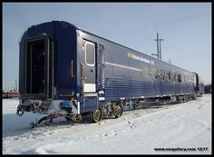 "A roster shot of the ""B"" end of Ontario Northland coach 652 captured at Cochrane December 24th."