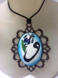 Tile Art, Fancy, Pendant Necklace, Ceramics, Painting, Jewelry, Porcelain Ceramics, Ceramica, Pottery