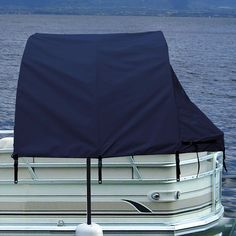 Boat Privacy Enclosure Tent Pontoon Shade Cover by Taylor Made Blue x Trailer Hitch Accessories, Pontoon Boat Accessories, Pontoon Seats, Pontoon Stuff, Pontoon Boat Covers, Pontoon Boating, Boating Fun, Boat Cleaning, Party Barge