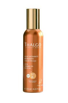 THALGO Sonne:  Bräunendes Satin-Öl LSF 6  Nicht fettendes Öl-Spray mit leichtem Schutz für Körper und Haar