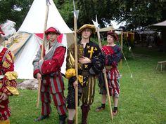 Three landsknechts
