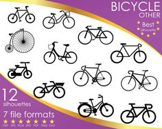Hey, I found this really awesome Etsy listing at https://www.etsy.com/listing/503792194/12-silhouettes-bicycle-road-bike