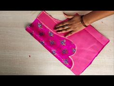 Easy patchwork blouse back neck design cutting and stitching /blouse designs - YouTube
