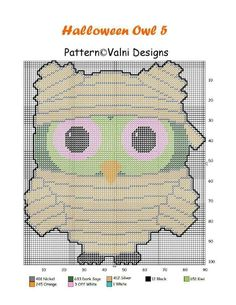 Halloween Canvas, Halloween Owl, Halloween Patterns, Halloween Projects, Halloween Pumpkins, Craft Projects, Halloween Ideas, Plastic Canvas Ornaments, Plastic Canvas Crafts