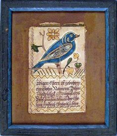 Schuylkill County, Pennsylvania ink and watercolor fraktur dated 1815.