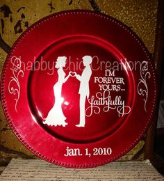 Wedding Anniversary Family Name Charger Plate Birth Announcement Charger Plate Personalized Chager Plate Couples Plate Wedding Marriage
