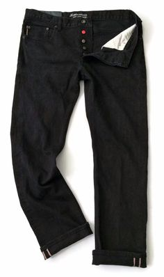 JT Jack Threads Mens Jeans Size 36 x 31 Slim Straight Selvedge Black Denim #JackThreads #SlimStraightLeg