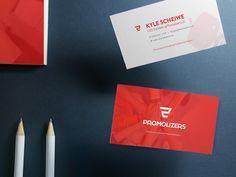Promolizers Business Cards by Jeremiah Custard #branding #identity #businesscards #mockup #brand #logo
