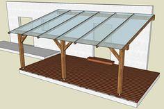 Pergola / Abris bois accolée à un mur | Forum Bois
