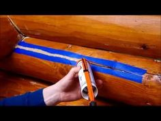 How to Apply Perma-Chink Log Cabin Chinking - YouTube