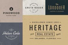 10 Logo/Badge Templates Vol.3 by GraphicBurger on @creativemarket