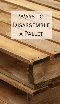 Ways to disassemble a palette - Painted Furniture Ideas For the Home - diy pallet creations Pallet Crates, Pallet Boards, Pallet Wood, Pallet Couch, Outdoor Pallet, Wooden Pallet Ideas, Wooden Pallet Furniture, Pallet Fence, Rustic Furniture