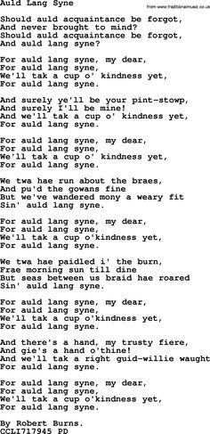 Christmas Powerpoints, Song: Auld Lang Syne - Lyrics, PPT(for church projection etc) and PDF