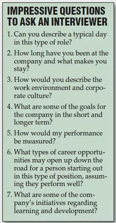 Resume Tips : Great Questions to ask the interviewer during a job interview. Still feeling a little rusty on the whole job searching process? No problem. GO Charleston Deals has a great deal on Interview Coaching just for you! Job Interview Questions, Job Interview Tips, Job Interviews, Interview Coaching, Interview Techniques, Interview Clothes, Job Interview Makeup, Preparing For An Interview, Good Interview Answers
