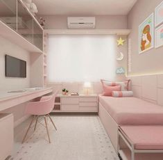 33 tolle College-Schlafzimmer Dekor-Ideen und umgestalten 33 awesome college bedroom decor ideas and remodel Small Apartment Bedrooms, Small Room Bedroom, Modern Bedroom, Small Teen Room, Small Girls Bedrooms, Bedroom Bed, Ideas For Small Bedrooms, Teen Bedroom Colors, Comfy Bedroom