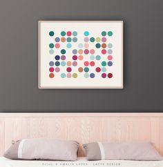 Dots 1. Geometric print - Latte Design   - 1