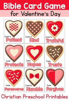 Bible Verse Card For Valentines Day Helping Children Look