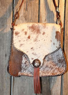 Crossbody Cowhide Purse Vintage Cowgirl by SEMJewelryDesigns