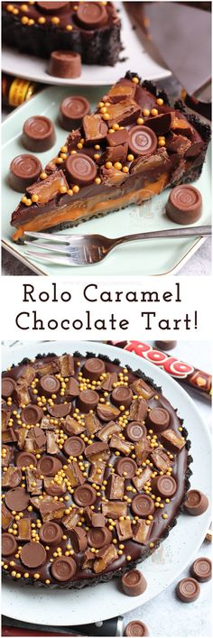 - No-Bake Rolo Tart! A delicious No-Bake Rolo Tart that will be the perfect Shows… No-Bake Rolo Tart! A delicious No-Bake Rolo Tart that will be the perfect Showstopper for any occasion! Oreos, Caramel, Chocolate and oodles of Rolos! Tart Recipes, Sweet Recipes, Baking Recipes, Dessert Recipes, Sweet Pie, Sweet Tarts, Just Desserts, Delicious Desserts, Party Desserts