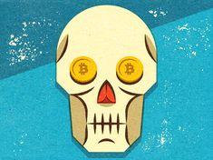 Death of the Bitcoin? © Alexei Vella #editorial #advertising #conceptual #illustration salzmanart.com