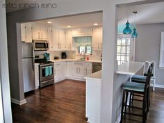 21 Ideas Raised Ranch Remodel Layout Open Concept For 2019 Home Kitchens, Kitchen Design, Raised Ranch Kitchen, Raised Ranch Remodel, Home Remodeling, Kitchen Room, Kitchen Layout, Kitchen Remodel Layout, Small Remodel