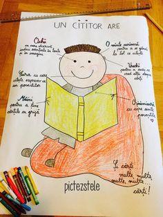 Despre cititori și scriitori – Afișe – pictezstele Romanian Language, Teacher Supplies, Spring Crafts For Kids, Pumpkin Crafts, School Humor, Kindergarten Activities, Book Crafts, Kids Education, Box Art