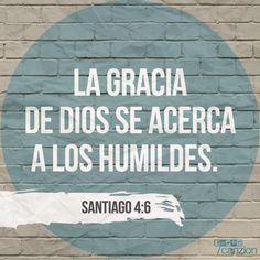 «Y él da gracia con generosidad. Como dicen las Escrituras: Dios se opone a los orgullosos pero da gracia a los humildes ». — Santiago 4:6
