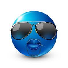 Blue Emoji, Emoji Love, Funny Emoji Faces, Funny Emoticons, Symbols Emoticons, Smiley Faces, Emoji Man, Emoji Pictures, Oui Oui