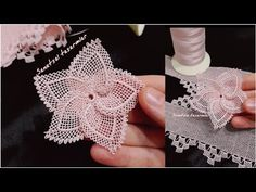 Needle lace passion flower / how to make passion flower / NEEDLE LACE - Knitting Crochet Flower Patterns, Crochet Flowers, Crochet Lace, Tatting, Crochet Decoration, Passion Flower, Knitting Videos, Needle Lace, Lace Knitting