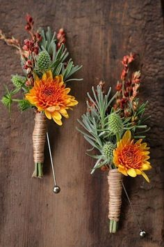 Fall Wedding Boutonnieres for Every Groom / http://www.himisspuff.com/fall-wedding-boutonnieres-for-every-groom/4/