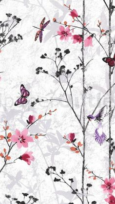 Muriva eden butterflies wallpaper pink in 2019 Butterfly Wallpaper, Tree Wallpaper, Shop Interior Design, Store Design, Girls Bedroom Wallpaper, Girl Wallpaper, Feature Wallpaper, Bedroom Murals, Shop Window Displays