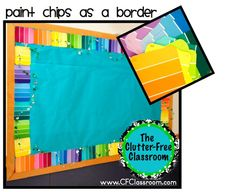 Clutter-Free Classroom has FREE tips & ideas to help teachers improve classroom organization & management.Enjoy teaching with less mess & less stress. Bulletin Board Borders, Classroom Bulletin Boards, Classroom Themes, School Classroom, Classroom Decor, Future Classroom, Classroom Birthday, Infant Classroom, Classroom Hacks