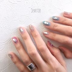 ...|ネイルデザインを探すならネイル数No.1のネイルブック Fancy Nail Art, Fancy Nails, Love Nails, Korean Nail Art, Korean Nails, Self Nail, Nail Jewelry, Perfect Nails, Short Nails