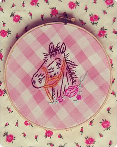 Awesome horse #embroidery