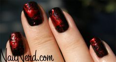Blood splatter nails :) cool for halloween or if you used diff colors, it'd be like a paint splatter effect Gel Nail Tips, Gel Nails, Nail Polish, Manicures, Splatter Nails, Paint Splatter, Makeup Storage Hacks, Makeup Quotes Funny, Halloween Nails