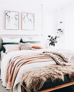 Home Decoration Ideas Indian White Pink Feminine Bedroom Inspiration Cozy Beds. Home Decoration Ideas Indian White Pink Feminine Bedroom Inspiration Cozy Beds Simple Apartments, Scandinavian Bedroom Decor, Bedroom Makeover, Home Decor, Chic Bedroom, Small Bedroom, Feminine Bedroom, Master Bedrooms Decor, Bedroom Inspiration Cozy