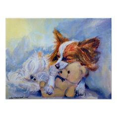 This is just what my Alice does! Papillon Dog Poster PRINT