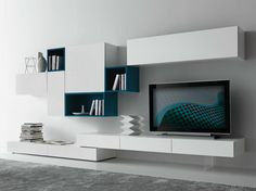 Modern living room is no longer just a part of the house but it is the most essential and active area. 50 modern living room furniture design ideas by Presotto. Living Room Tv, Living Room Modern, Living Room Interior, Living Room Designs, Home And Living, Room Furniture Design, Living Room Furniture, Modern Wall Units, Modern Tv