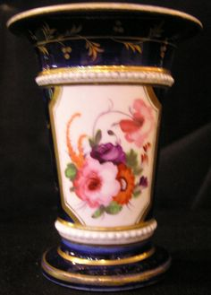Coalport Porcelain Floral Spill Vase with beading For Sale | Antiques.com | Classifieds