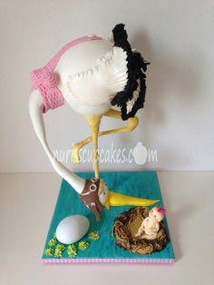 Stork Cake - Cake by Nurisscupcakes