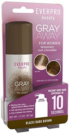 Everpro Gray Away Womens Root Concealer BlackDark Brown 15oz 3 Pack *** Click affiliate link Amazon.com on image to review more details.