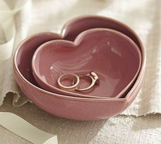 Nesting Heart Bowls #potterybarn